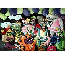 Yeti and Monsters having a party! Photographic Print