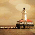 Breakwater Light by Timothy Gass