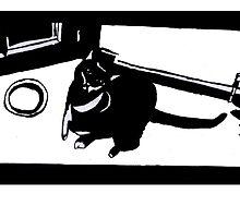 Art Noir Cat by Kyleacharisse