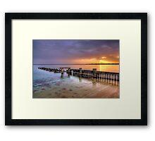 Mentone Sunset Framed Print