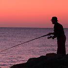 The Lonely Fisherman by Leanne Allen