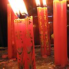 Candles at the Jade Pagoda Palace, HCMC by justineb
