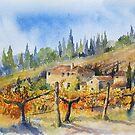 Autumn in the Vineyard Tuscany by artbyrachel