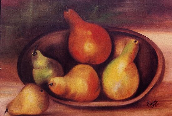 For the love of pears, Oil Painting by Esperanza Gallego