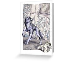 The Wolf at the Door Greeting Card
