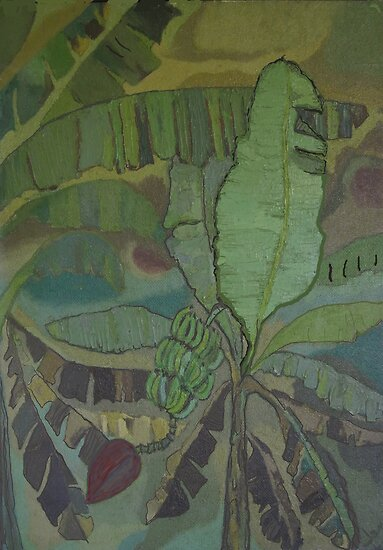 Jamaica Banana Trees by James Lewis Hamilton