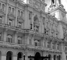 Museum of Fine Arts, Havana - black & white by ecotterell