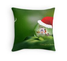 Santa drop Throw Pillow