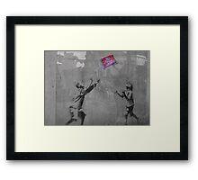 Banksy on the Street  Framed Print