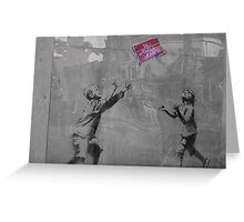 Banksy on the Street  Greeting Card