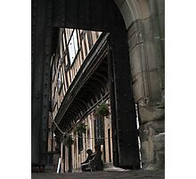 Leychester hospital, Warwick- through the gate Photographic Print