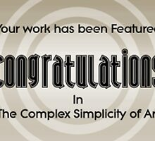 Complex Simplicity of Art Feature Banner by Rustyoldtown