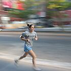 WOMAN RUNNING by elatan