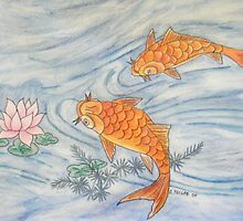 Two Koi by Alexandra Felgate