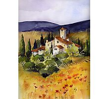 Evening in Tuscany Photographic Print