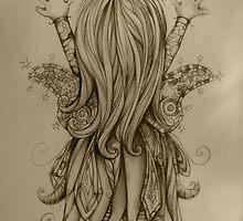 Bramble Rainbowtree drawing by © Karin  Taylor