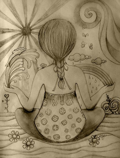 Serenity drawing by © Karin  Taylor