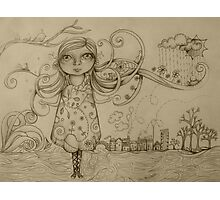 Summer Breeze drawing Photographic Print