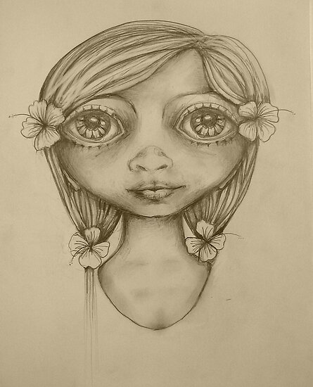 Wahine drawing by © Karin  Taylor