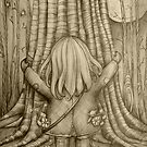 Tree Hugs drawing by Karin  Taylor