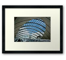 Canary Wharf Underground Station, London, United Kingdom Framed Print