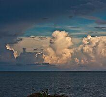 Dramatic rain cloud by Karel Kuran