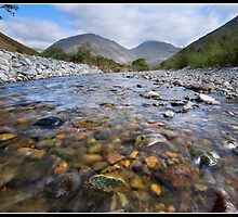 Paddling in Lingmell beck by Shaun Whiteman
