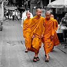 Buddhist monks by Simon Hackney