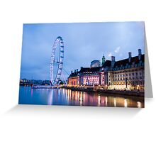In The Twinkling of an Eye: London Eye Greeting Card