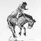 The Rodeo In Graphite by J.D. Bowman