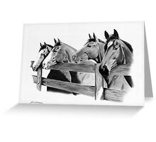 Horse Corral Greeting Card