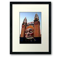 Luna Park - Sydney - Australia Framed Print