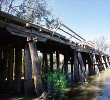 Rickety bridge, Goulburn River by Ross Gibb