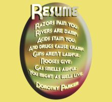 Resume by Dorothy Parker by GolemAura
