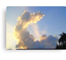 Odd Shaped Cloud Canvas Print