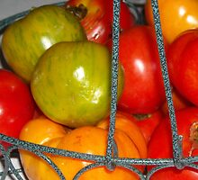Basket of Tomatoes by Debbie Meyers
