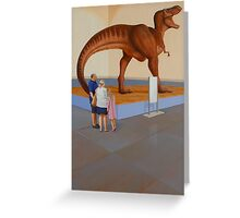 """Museum II (T-Rex)"" Greeting Card"