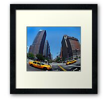 Fifth Avenue Taxi Framed Print