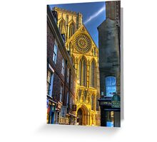 Rose Window - York Minster Greeting Card