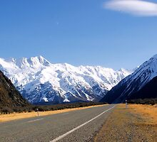 MT Cook open road NZ by Ian Cox