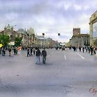 City day in Novosibirsk by Sergei Kurbatov