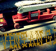 Vintage Fire Truck by Jessica Pior