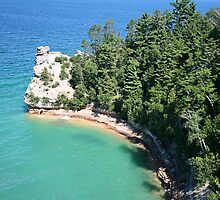 "Pictured Rocks ""Miners Castle"" by Rabecca Primeau"
