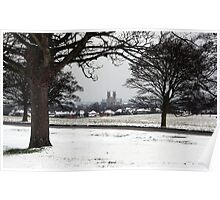Beverley Minster from a snow covered Westwood Poster