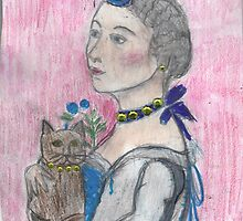 Madame Avec Une Chat. by RobynLee
