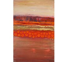 Pumpkin fields, mixed media on canvas Photographic Print