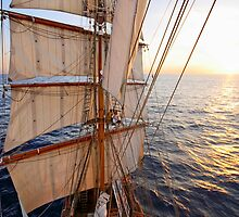Sunset from the Mast by Lucy Hollis