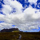Clouds are gathering over Cradle Mtn and Barn Bluff by Ian Robinson