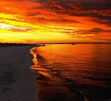 Sunset at Busselton by Julia Harwood