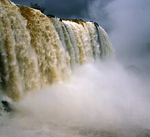 Iguassu Falls - Devil's throat - Brazilian side by Derek  Rogers